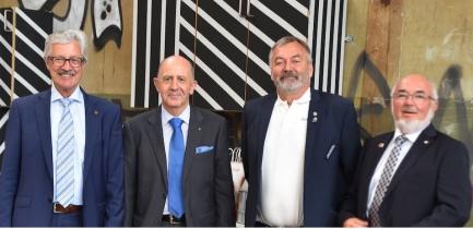 DGN Pierre-François Cuénoud, DGD Simon Bichsel, DGE Jean-Noël Gex, DG Hansruedi Moser
