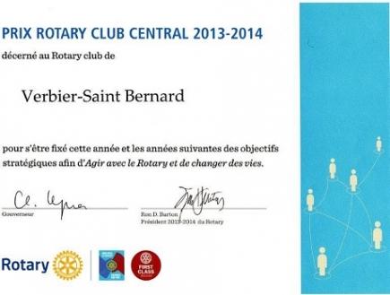 Prix Rotary Club Central
